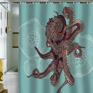 octopus shower curtain, theurbanrealist
