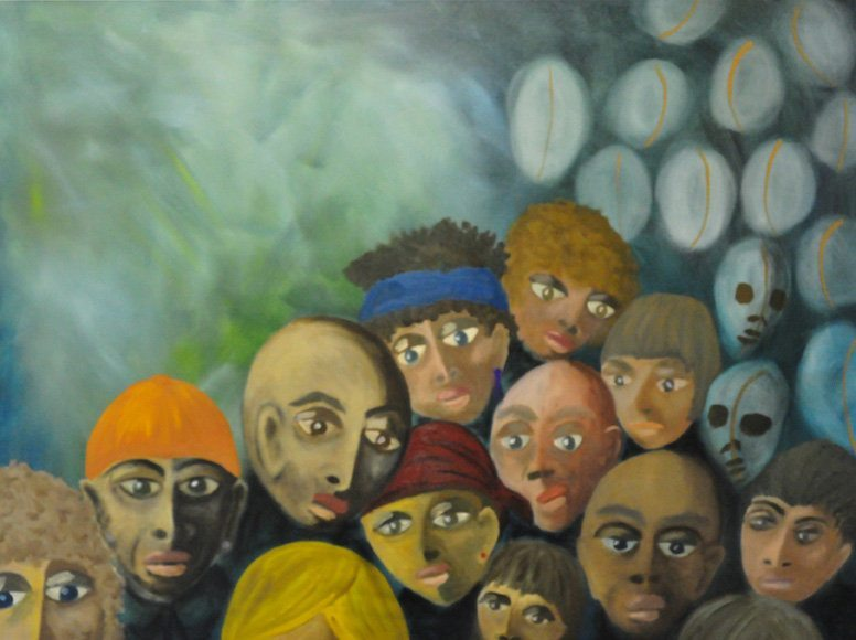 """Dianne K. Webb's oil painting titled """"What If God Were All Of Us"""""""