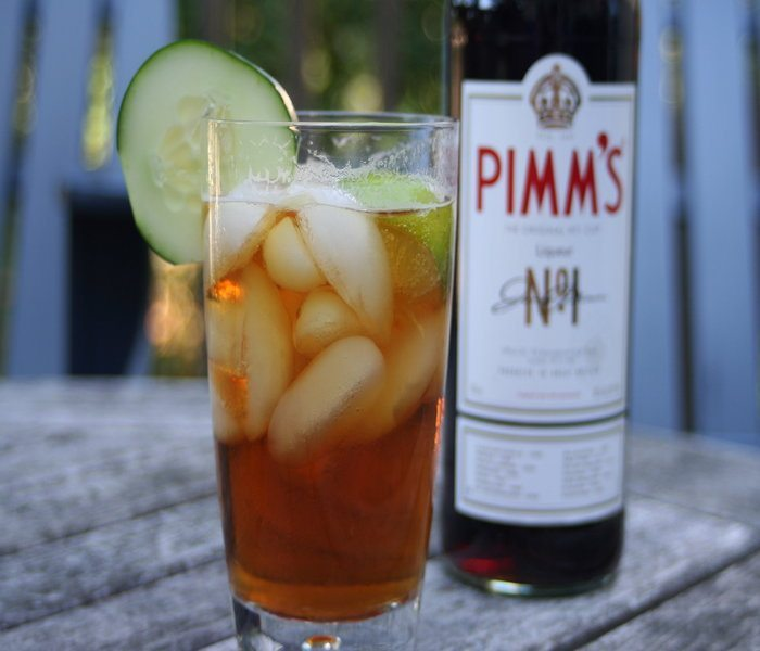 A glass of Pimm's.