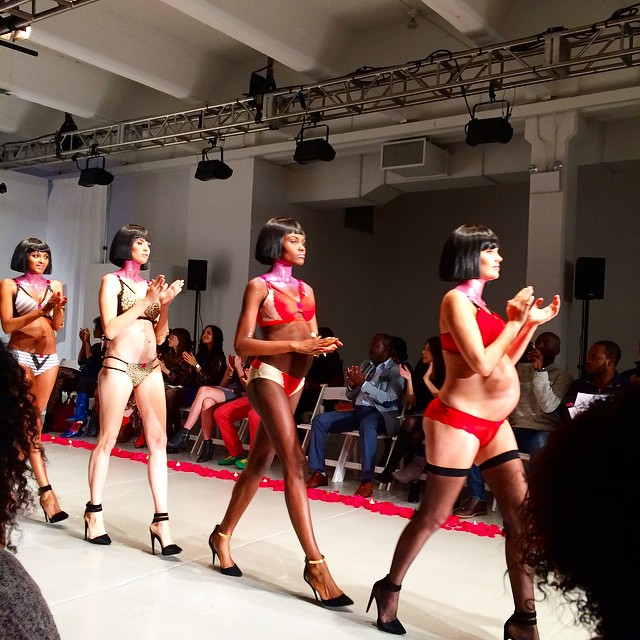 These hot mamas are working it on the runway! We're ending our day at @lingeriefashionweek with @youlingerie. #lfwny #nyc