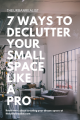 tips on decluttering your small apartment