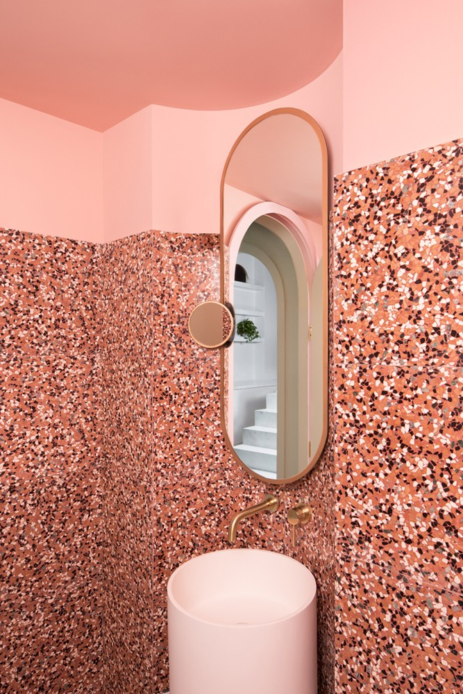 pink aesthetic bathroom goals